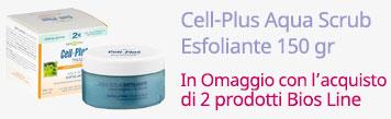 Cell-Plus Aqua Scrub Esfoliante 150 gr In Omaggio con l'acquisto di 2 prodotti Bios Line