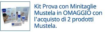 Kit Prova con Minitaglie Mustela in OMAGGIO con l'acquisto di 2 prodotti Mustela.