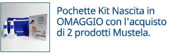 Pochette Kit Nascita Mustela in OMAGGIO con l'acquisto di 2 prodotti Mustela.