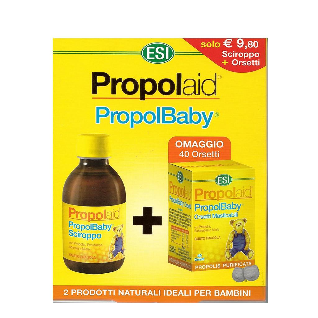 Propolbaby Sciroppo 180ml + 40 Caramelle Propolbaby Orsetti in omaggio