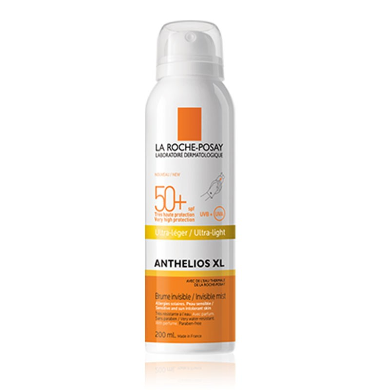 Anthelios XL Spray Invisible Ultra-Leggero SPF50, spray aerosol 200 ml Con Olio doccia da 100ml in omaggio