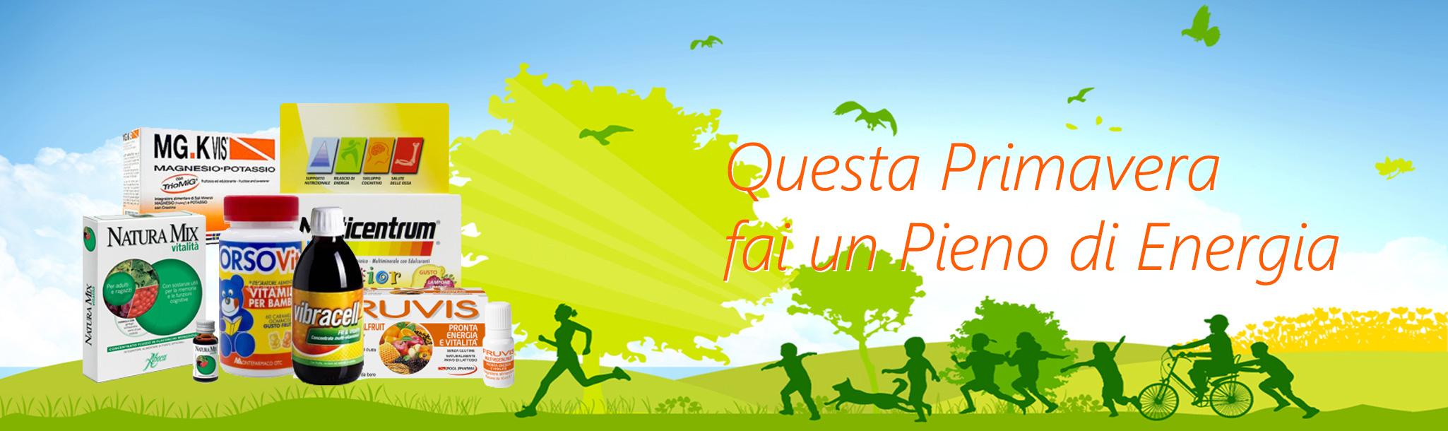 Integratori bambini e adulti per la primavera - offerta integratori - spedizione gratuita da 49€