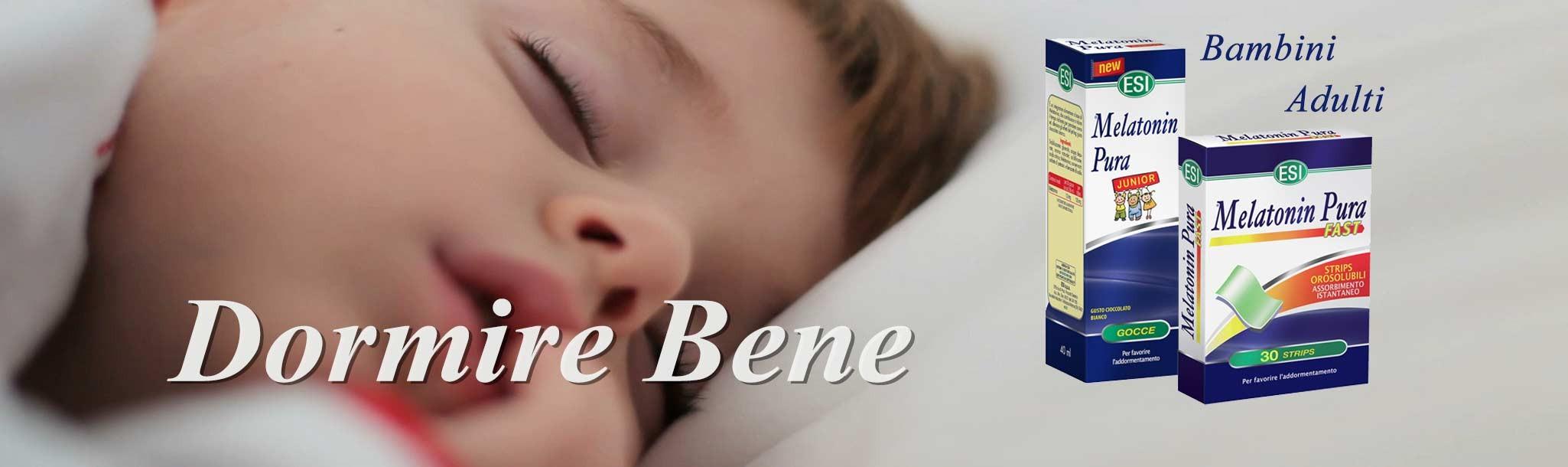 dormire bene con gli integratori naturali di melatonina