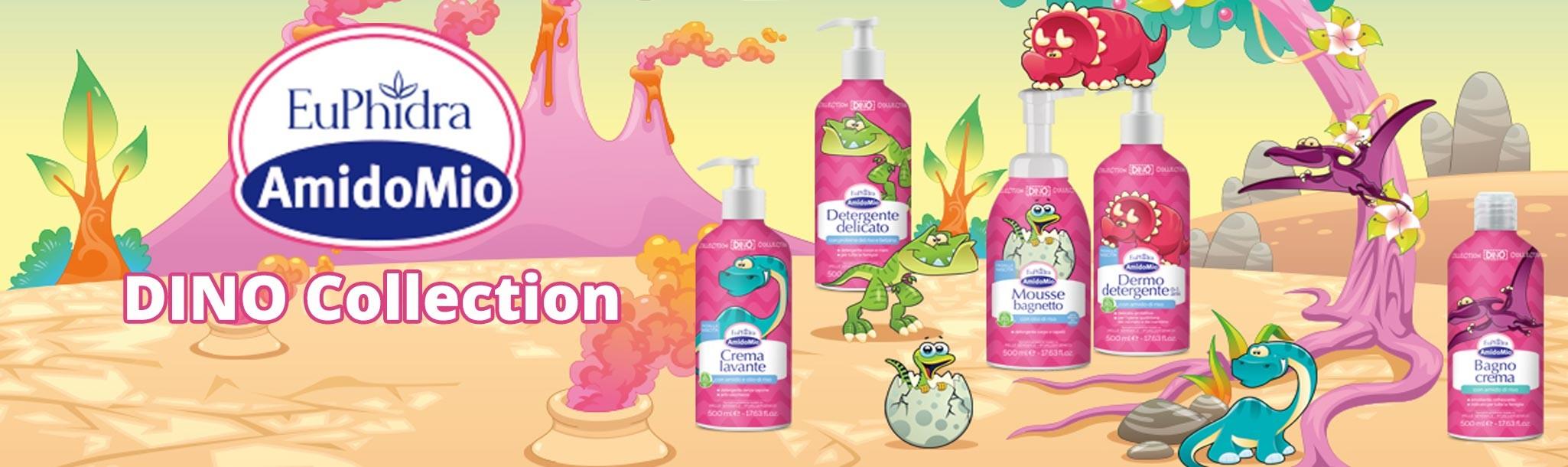 5 referenze MAXI da 500 ml. E con l'acquisto di un prodotto subito in regalo un divertente Dino Game: giochi, racconti e simpatici stickers.