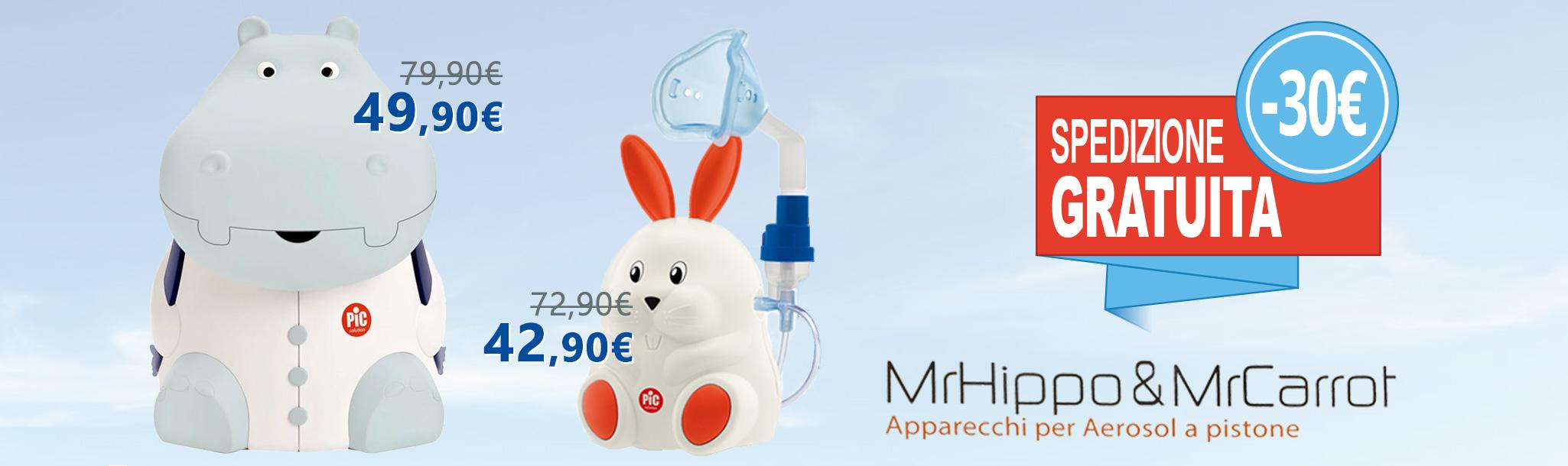 aerosol pic mr.hippo mr.carrot. Aerosolterapia a misura di bambino. IN PROMOZIONE A -30€