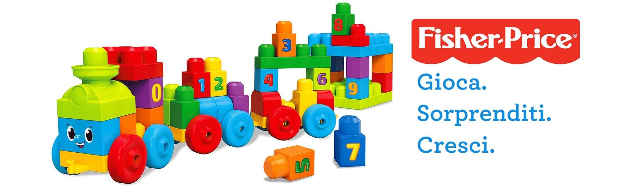 Giocattoli Fisher Price per neonati e bambini