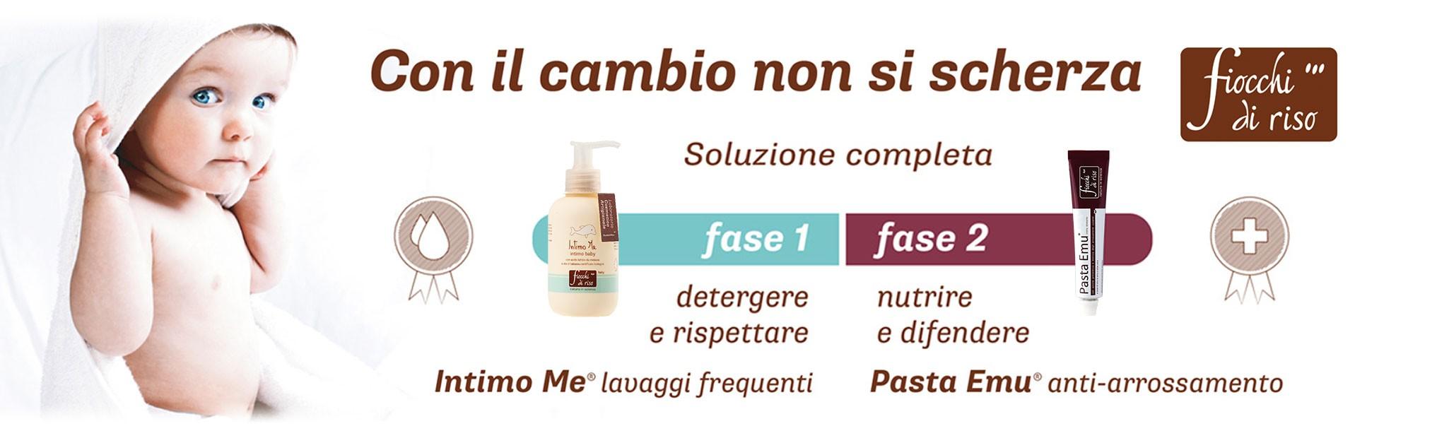 fiocchi di riso detergenti naturali per neonati e bambini e prodotti per il cambio di pannolino