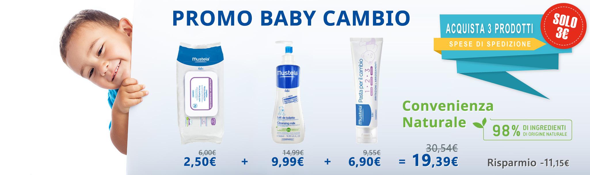 promozione baby cambio sconto prodotti mustela