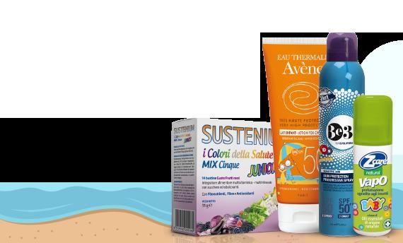 prodotti per il benessere e la salute in estate